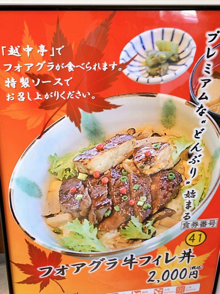 フォアグラ牛フィレ丼