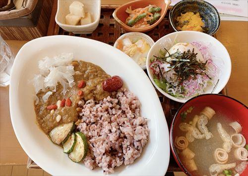 富山市町村 カフェ フェローで平日ヘルシーランチ♪薬膳カレーと週替わりお肉ごはん