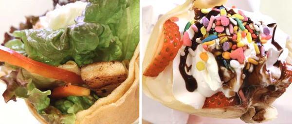 プティボヌール クレープ屋が富山第一高校近くに移転オープン!サラダといちごクレープ食べてみた♪