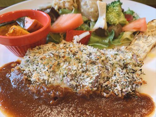 立山町 森の茶屋 糧で平日ランチ サラダプレートセットとお肉のセット