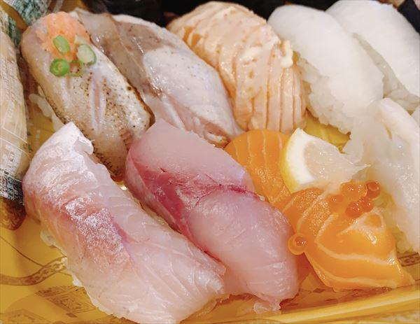 氷見きときと寿司 秋の季節メニューテイクアウト かます・ふくらぎ・サーモン